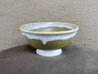 ひとくち茶碗 そば釉+白の画像
