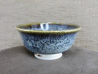 ひとくち茶碗 朝鮮唐津風 青黒・白の画像