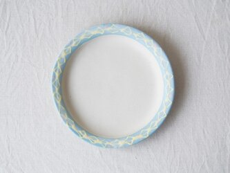 いっちん丸リム皿-ブルー-の画像