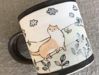 イタチのマグカップの画像