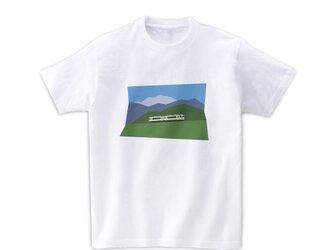 電車Tシャツ-小海線(白)の画像