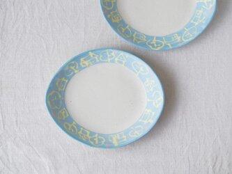 いっちん楕円皿-ブルー-の画像