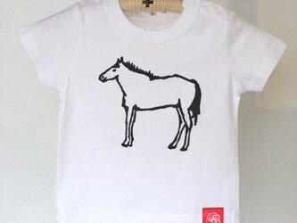 アイシングクッキーTシャツ ウマ80サイズの画像