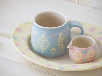 いっちんマグカップ・ハニーポット-ブルー-の画像