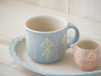 いっちんマグカップ・ストレート-ブルー-の画像