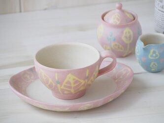 いっちんマグカップ・ティーカップ-ピンク-の画像