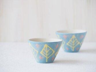 いっちん豆小鉢(反り)-ブルー-の画像