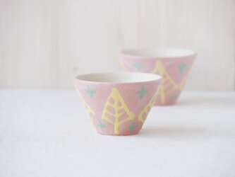 いっちん豆小鉢(反り)-ピンク-の画像
