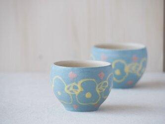 いっちん豆小鉢(丸)-ブルー-の画像