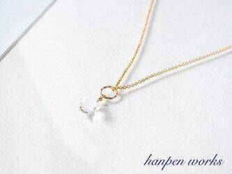 14kgf 宝石質 クリスタル (水晶) 一粒 ネックレスの画像