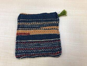 手織り コースターの画像