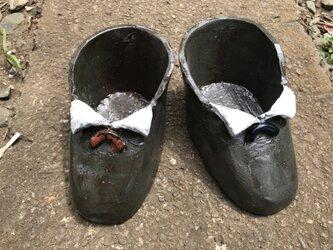 黒短靴プランターの画像