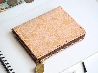 L字ファスナー 財布(ピースフル デイジー)オールレザー 革  メンズ レディース ILL-1157の画像