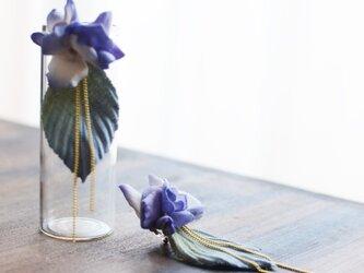 【受注制作】紫陽花のイヤリング(ノンホールピアス)の画像