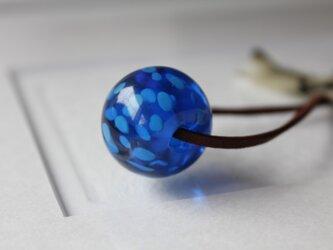 蜻蛉玉 〜浮き草〜 青色〈2017-50〉の画像