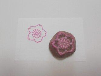消しゴムはんこ 桜(花びら・白ぬき)の画像