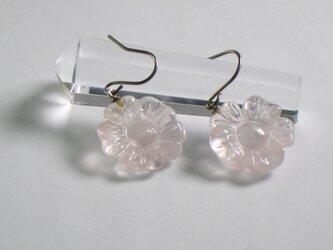 桜ローズクォーツ 美々和'sピアスイヤリングの画像