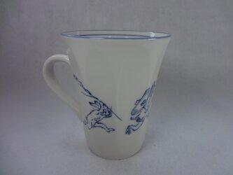 マグカップ(鳥獣戯画・兎と猿の追いかけっこ)の画像