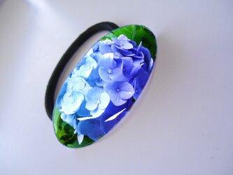 アートヘアゴム(楕円)紫陽花【送料無料】の画像