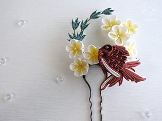 金魚と夏祭り❖つまみ細工 かんざし 着物・髪飾り・和装小物・簪・浴衣の画像