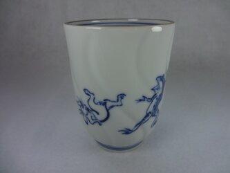 湯呑・ねじり・飲み口茶線(鳥獣戯画・兎と蛙)の画像
