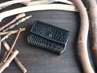 『ミニウォレット』 イタリアンレザー・LIPARI(リパリ)※(革色ブラック)の画像