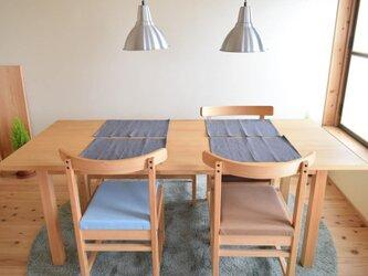 W180cm ダイニングテーブル国産ヒノキ ★6人でも使える★セラミック塗装の画像