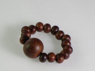紫檀 木玉指輪の画像