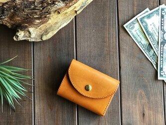 アメリカンオイルレザーを使用した三つ折り財布の画像