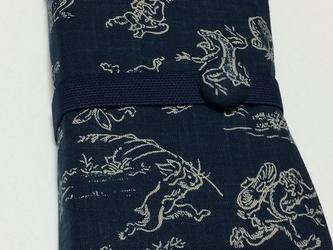 御朱印帳ケース2冊用~鳥獣戯画(紺)の画像