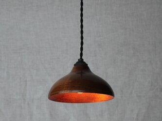 木と漆のランプ 金桑 (kg1)の画像