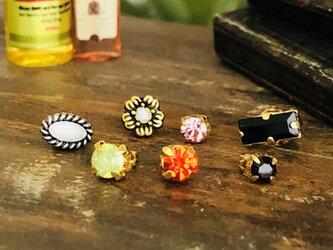 小さな指輪 ミニチュア アクセサリー ミニチュア リングの画像