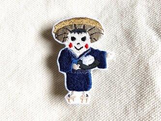 刺繍ブローチ 「豆腐小僧」の画像
