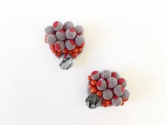 ファブリック 赤水玉の画像