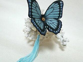 蝶のかんざし(小)モルフォの画像