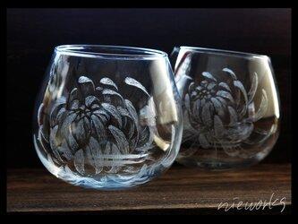 ワインタンブラーM--菊の画像