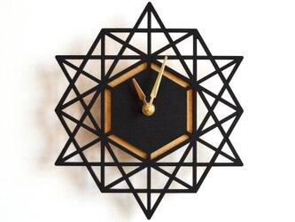 Decoylab モダン・ジオメトリーの掛け時計 Large(BLACK-L)の画像