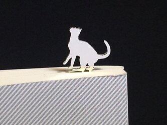 Cat-11-h BookMark シルバーブックマーク しおり 猫 ネコ<受注制作>の画像