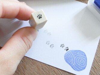 足跡はんこ イヌ・ネコの画像