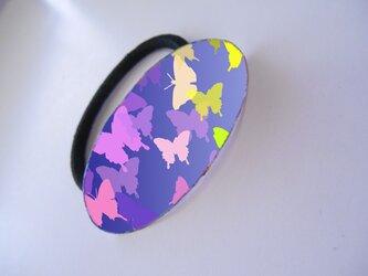 アートヘアゴム(楕円)蝶々【送料無料】の画像