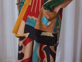大漁旗から作った作務衣 木綿の画像