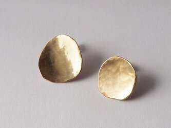 真鍮Brassピアス 一点ものの画像