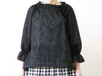 ラグランスリーブのブラウス~ブラック~の画像