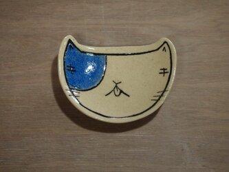 猫の豆皿(陶器)の画像