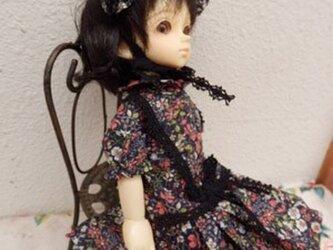 幼SDサイズ リバティークラシカルドレスとボネ(背丈27cm)の画像