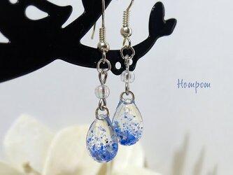 プチプラ☆水しぶきの雫ピアス ホムポムの画像