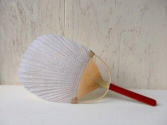竹うちわ 小判型 流水の画像