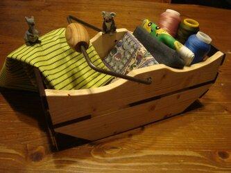 ◆アイアンの取っ手無垢の木ウッドボックスです。新作です!の画像
