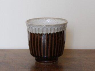 筒型湯のみ(掛分 しのぎ)の画像