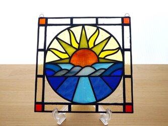 ●ご予約分● ステンドグラス ミニパネル サンライズ 15cmの画像